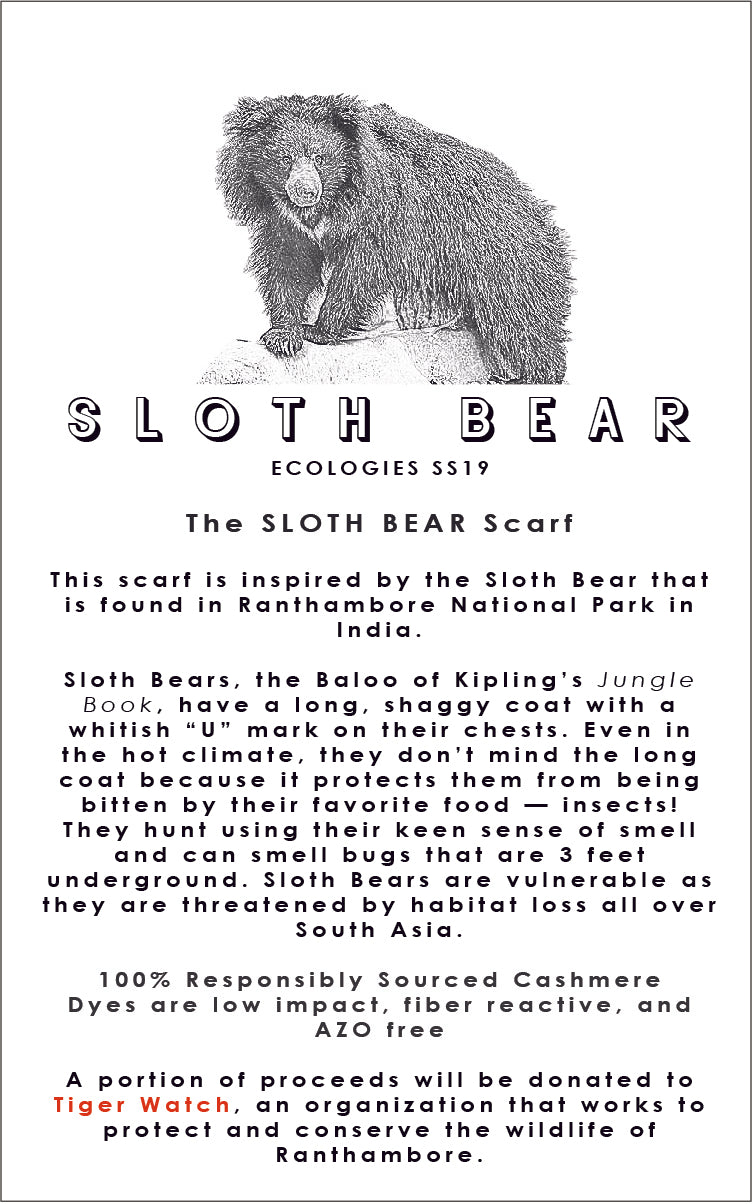 SLOTH BEAR Scarf