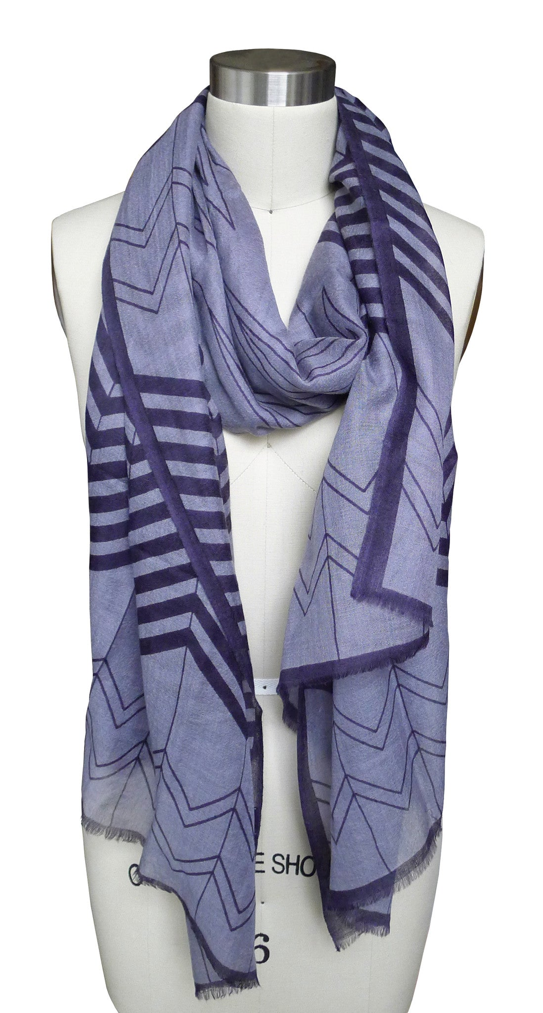 SKY Chevron Scarf - Midnight
