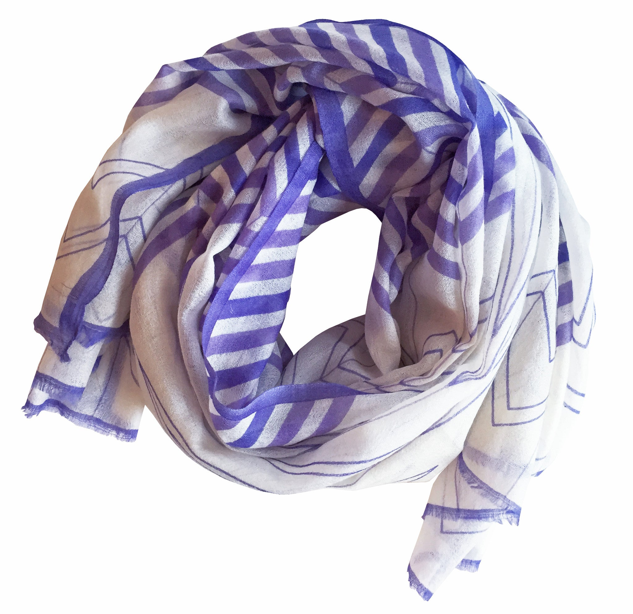 SKY Chevron Scarf - 2-tone Purple