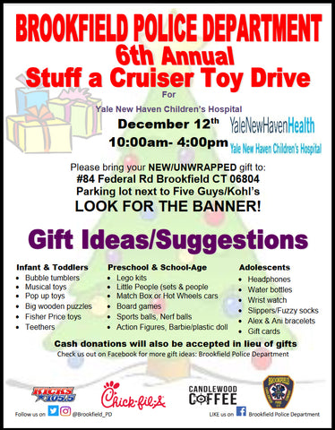 Brookfield Police Toy Drive with Candlewood Coffee