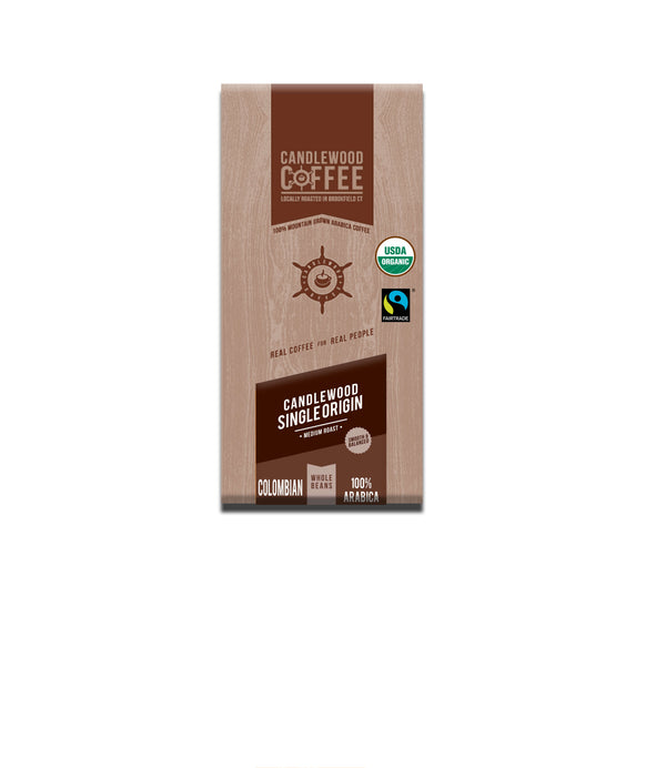Candlewood_Fair Trade Organic_Colombian_Whole Bean_Coffee_Bag