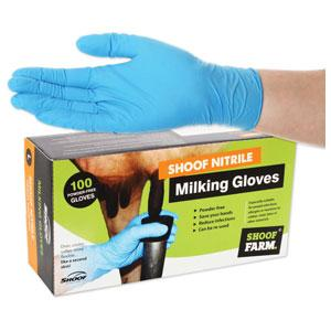Milking Gloves Shoof Nitrile Med/100 204632 - Redfarm Supplies - Shoof - Strzelecki Trading