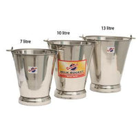 Bucket Stainless Cowbell 7L 212153 - Redfarm Supplies - Shoof - Strzelecki Trading