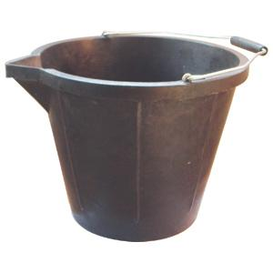 Bucket Recycled Rubber 14L 212188 - Redfarm Supplies - Shoof - Strzelecki Trading