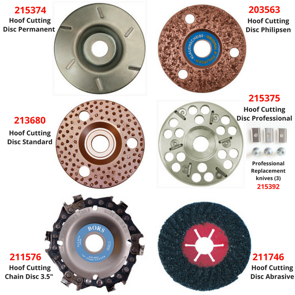 Hoof Grinding Discs for Cattle, Horses, Sheep, Goats - Redfarm Supplies - Shoof - Strzelecki Trading