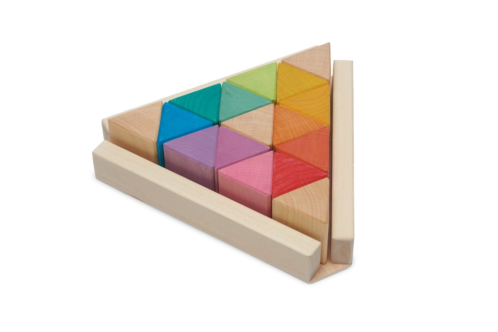 Coloured triangle stacking blocks