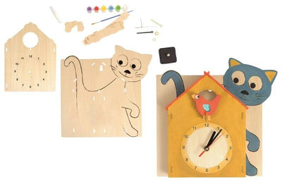 Wooden kit clock