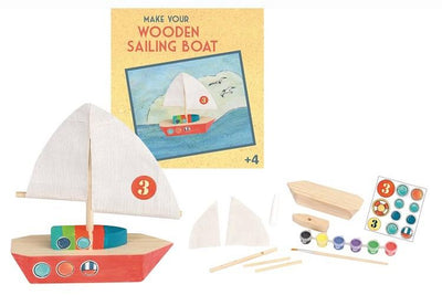 Wooden kit sailboat