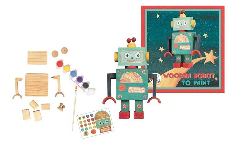 Wooden kit robot