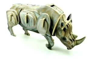 Wooden kit rhino