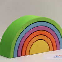 Rainbow green - 6 pieces