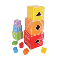 Wooden stacking cube