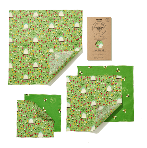 Beeswax Reusable Food Wraps Large Pack Theecologik eco products
