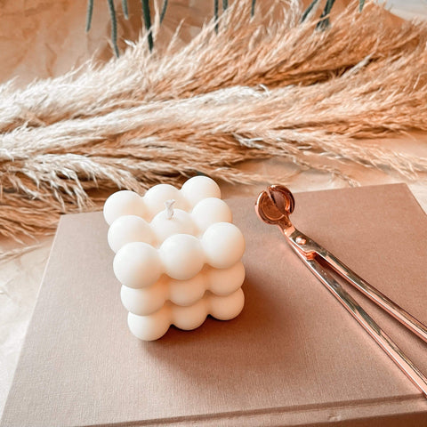 Bubble Cube Soy Wax decorative candle Theecologik eco products