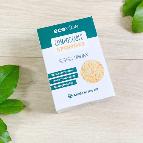EcoVibe Pack of 2 compostable sponges Theecologik eco products