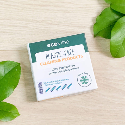 EcoVibe Plastic-Free Soluble Sachets Kitchen Cleaner Theecologik eco products