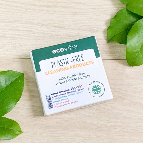 EcoVibe Plastic-Free Soluble Sachets Variety Pack Cleaners (5 products) Theecologik eco products