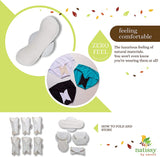 Pack of 6 washable organic period pads Day Time & Regular Flow Theecologik eco products