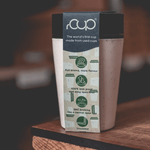 rCUP Reusable travel Cup 8oz, Cream & Black Theecologik eco products