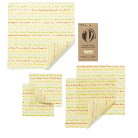 Vegan Reusable Food Wraps Large Pack Theecologik eco products