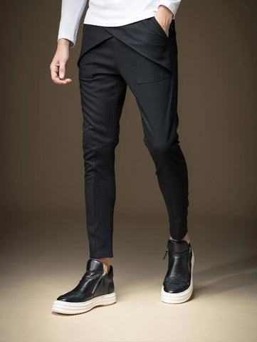DAPPER BLACK SKINNY PANTS