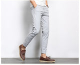 CASUAL PLAIN ANKLE-LENGTH PANTS