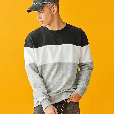 STRIPED LOOSE FIT SWEATSHIRT