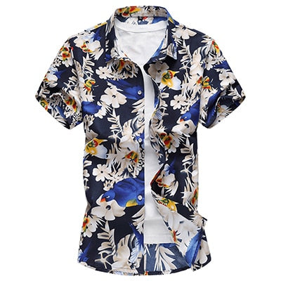 SLIM FIT FLORAL PATTERN SHIRT