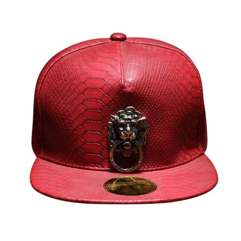 METAL LION HEAD HIP HOP SNAPBACK