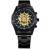STEAMPUNK SKULL LOGO MECHANICAL WATCH