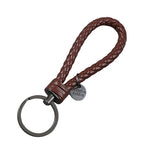 BRAIDED LEATHER KEYCHAIN