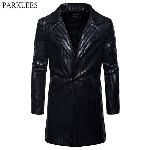 PU LEATHER MOTORBIKE COAT