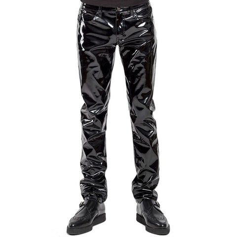 SHINY GLOSSY PENCIL PANTS
