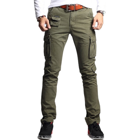 SLIM FIT MILITARY CARGO PANTS