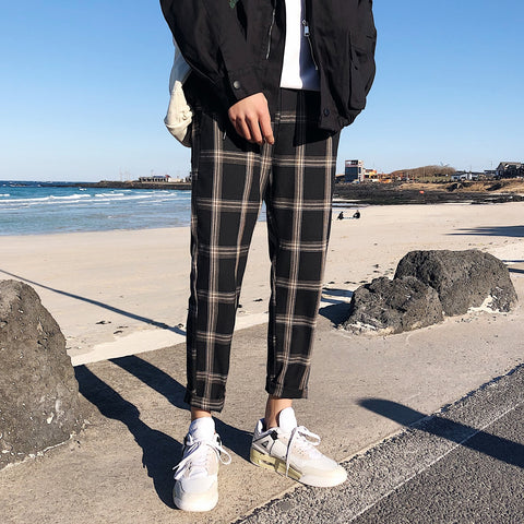 RETRO PLAID PANTS
