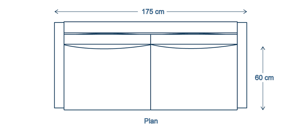 Two seater sofa dimensions