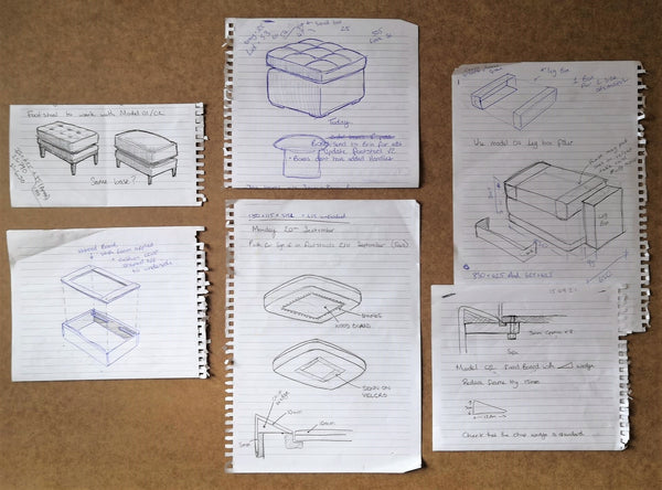 initial sketches line drawings