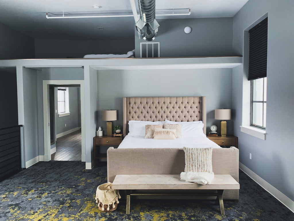Cool grey colored walls