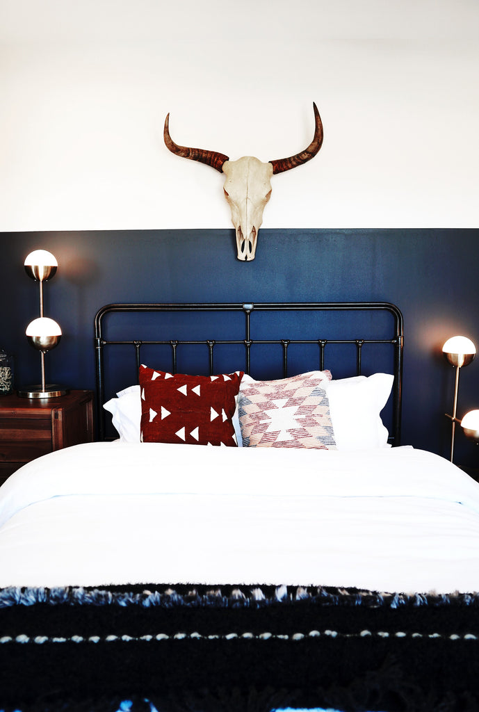 Dark and relaxing guest bedroom style
