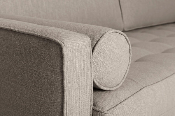 Model 02 Linen 3 Seater Sofa - Pumice