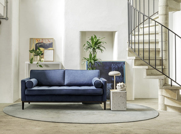 Model 02 Velvet 2 Seater Sofa - Teal