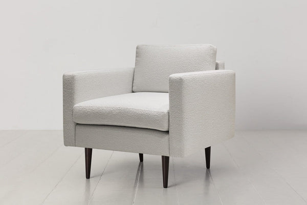 Model 01 Boucle Armchair - Ivory