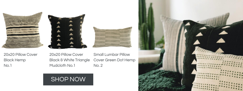 Everand Green and Neutral Pillow Covers