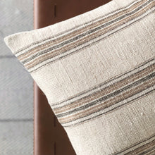 Load image into Gallery viewer, CUSTOM Pillow Cover - Natural Terracotta Woven Stripe