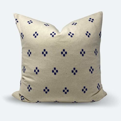 20x20 Pillow Cover - Blue & White Woven No. 1