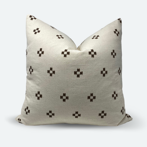 20x20 Pillow Cover - Brown & White Woven No.1