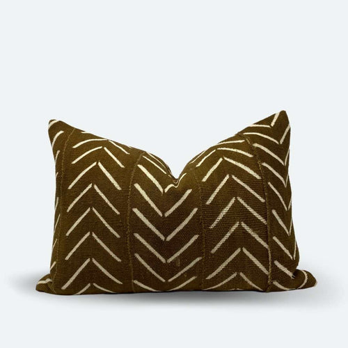 Medium Lumbar Pillow Cover - Clay Arrow Mudcloth No.1