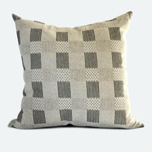 Load image into Gallery viewer, 20x20 Pillow Cover - Black & White Woven No.2