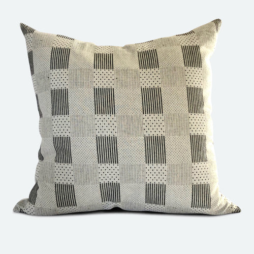 20x20 Pillow Cover - Black & White Woven No.2