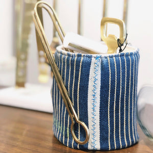 Small Pouch - Blue Baoule No.22